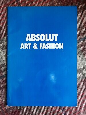 ABSOLUT Art & Fashion collectable 1997 Absolut vodka book