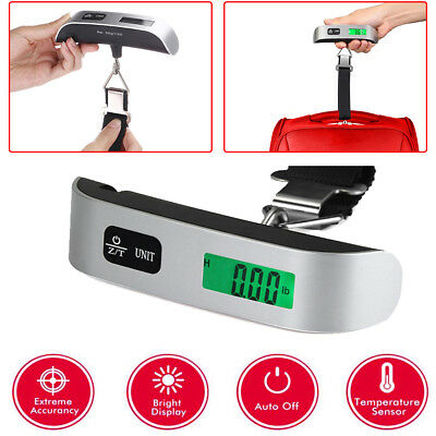 Hot SALE!50kg/10g Travel LCD Digital Hanging Luggage Scale Electronic Weight NEW