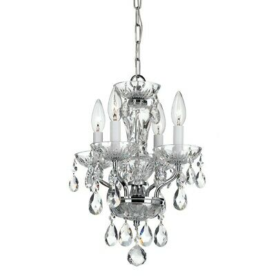 Crystorama Traditional Crystal 4 Light Chrome Mini Chandelier - 5534-CH-CL-MWP