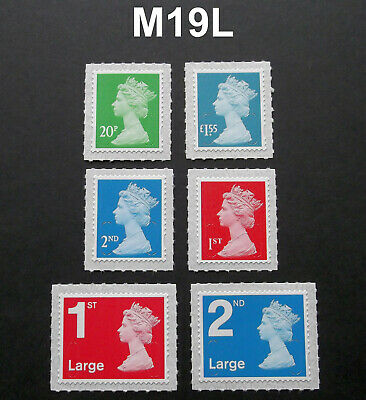 APRIL 2019 M19L Set of 6v Machin COUNTER SHEET SINGLE STAMPS