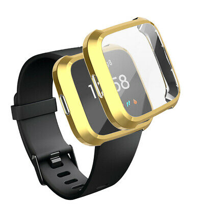 For Fitbit Versa Lite 2 Watch TPU Full Screen Protector Protect Frame Case Cover