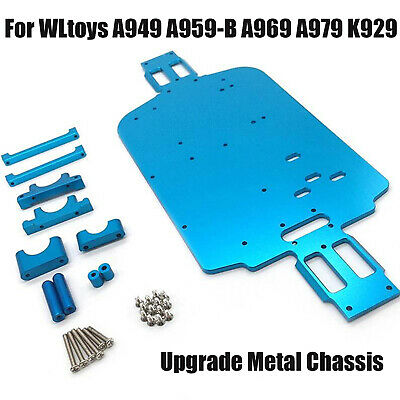 Metal Chassis Upgrade Parts For 1/18 WLtoys A949 A959-B A969 A979 K929 RC Car