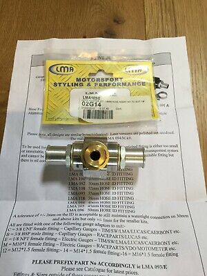 LMA Hose Adaptor Kit 19mm Hose With Instructions Mount Temperature Gauge Insert