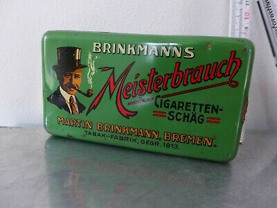1920 Tabakdose Shag tin cigarette or pipe tobacco tin Art Déco Brinkmanns Bremen