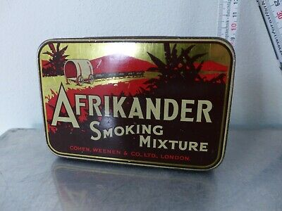 1930 Tabakdose Shag tin cigarette or pipe tobacco tin Art Déco Afrikande Holland