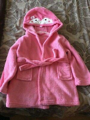 Pink girls dressing gown , aged 3-4