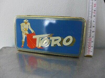 1950 Tabakdose Shag tin cigarette or pipe tobacco tin Art Déco TORO Torero