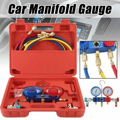 Air Conditioning AC Manifold Gauge Car Truck Refrigeration Diagnostic Test Tools