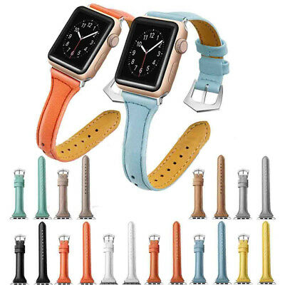Leather Watch Band Strap Bracelet for iWatch Apple Watch Series4 3/2/1 38mm 42mm