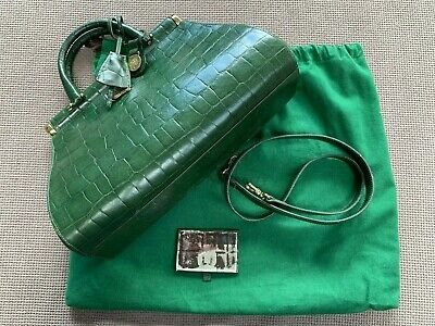 38b46a99b8 Genuine/Rare Mulberry Green Gladstone congo leather Handbag with dust bag