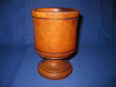 Antique 19th Century Wooden Turned Herb Mortar