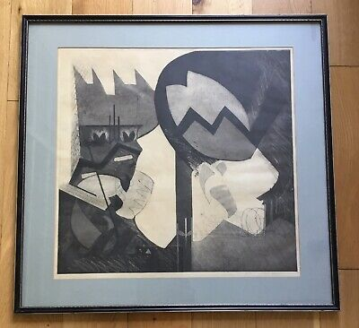 Vintage Ltd Edt Abstract Etching Titled Window 6 Signed Dated 1979 Camden