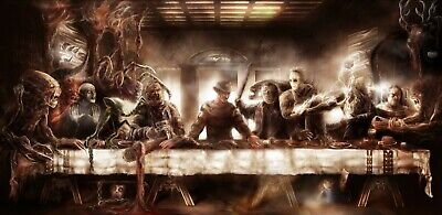 Classic Horror Movies - Last Supper Killers Wall Art Poster / Canvas Pictures