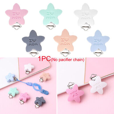 Teething Nipple Holder Baby Pacifier Clip Food grade silicone Teether Holder