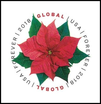 US 5311 Holiday Poinsettia global forever single (1 stamp) MNH 2018