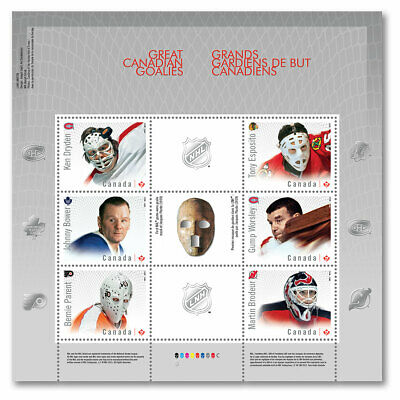 Canada 2866 NHL Great Canadian Goalies souvenir sheet MNH 2015