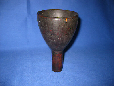 Antique Victorian Primitive Wood Treen Funnel.