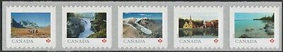 Canada Far & Wide 'P' strip set (5 stamps from coil of 5000) MNH 2019