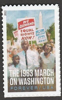 US 4804 Civil Rights March on Washington forever single (1 stamp) MNH 2013
