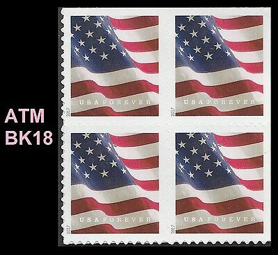 US 5162 Flag forever block (4 stamps from booklet 18 ATM) MNH 2017