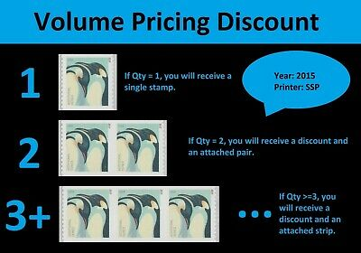 US 4990 Penguins additional ounce single (1 stamp from coil of 100) MNH 2015