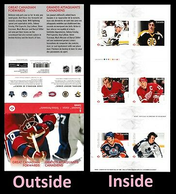 Canada 2947a BK653 NHL Great Canadian Forwards 'P' booklet 6 MNH 2016