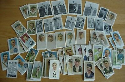 154 REPRODUCTION ENGLISH & AUSTRALIAN CIGARETTE CRICKET CARDS- W G GRACE etc