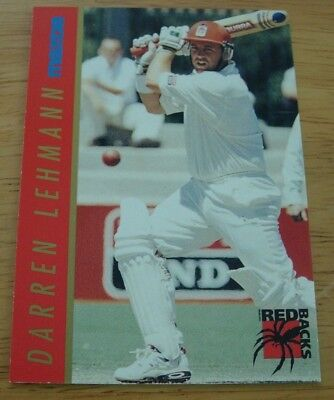3 Rare 1995/96 Mazda Cricket Cards South Australian Redbacks Darren Lehmann