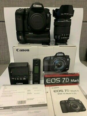 Canon EOS 7D Mark II 20.2MP  w/ EF-S 18-135mm IS and Battery Grip