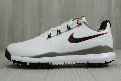 40 RARE Nike Men's TW 14 Tiger Woods Golf Shoes White Red 8 10.5 W 605390-100