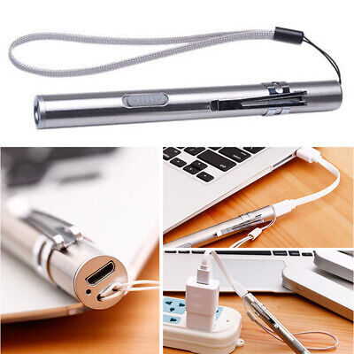 Medical Examination Mini Led Visual Oral Throat Torch USB Rechargeable Pen Clip