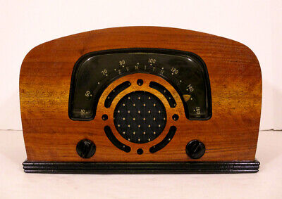 Old Antique Wood Zenith Vintage Tube Radio -Restored Working Art Deco Black Dial