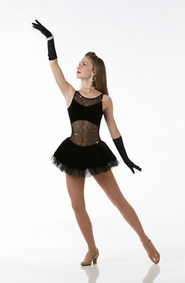 d70805610 A Girls Best Friend Dance Costume Tap Dress with Gloves Ice Skating Adult  Large