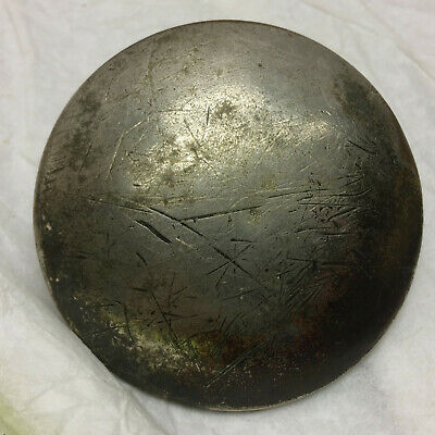 Vintage Antique Horse Brass Cast Iron Back Nickel Plated Front