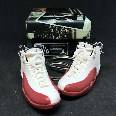 deb805b65fc2 Air Jordan Xii 12 Retro Og Cherry Red 3D Sneakers Keychain 1 6 Figure Shoes