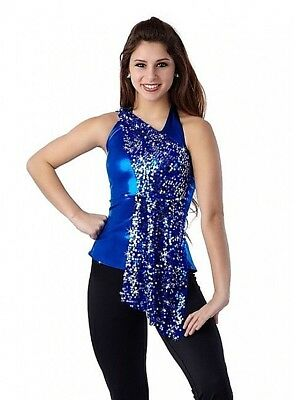 ac6448f81 In Motion Dance Costume Sequin Mesh TOP ONLY Color Choices Child and Adult  New