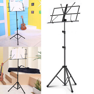 Flexible Adjustable Sheet Music Stand Holder Strong Folding Tripod Legs and Bag