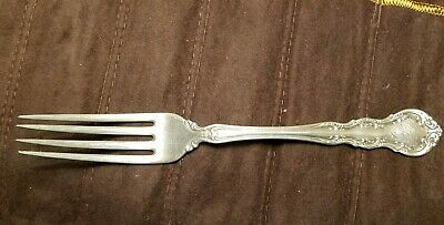 "Antique Vintage R Wallace Irving Sterling Silver 7-1/2"" Dinner Fork Monogrammed"