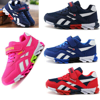 UK Boys Girls Children Breathable Running Sport Kids Trainers Mesh Shoes Casual
