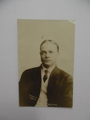 1908 Evangelist Billy Sunday Real Photo Postcard by C.U. Williams RPPC Antique