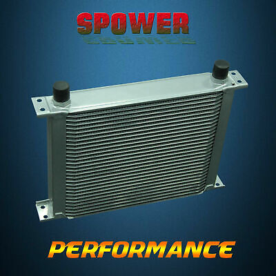 Universal 30 Row AN10 Aluminum Engine Transmission Oil Cooler 248MM Silver