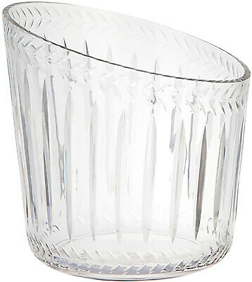 Clear Glass Champagne Bucket Wine Cooler Non-Porous Home Barware Tableware New