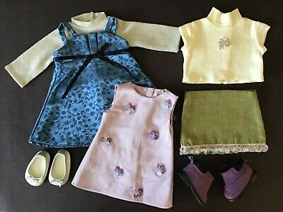 Lot American Girl dress skirt party outfits Go Anywhere Sapphire Birthday EUC!