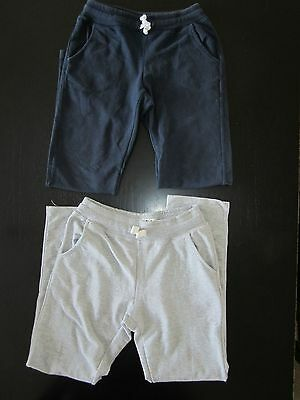 ZARA  2 Girls Navy Blue/Grey Jogging Bottoms, Age 7-8 yrs