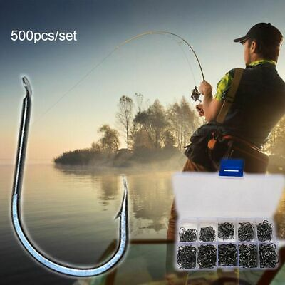 Steel Sharp Durable Head Lure Tackle Box Jigging Bait Barbed Fishing Hook
