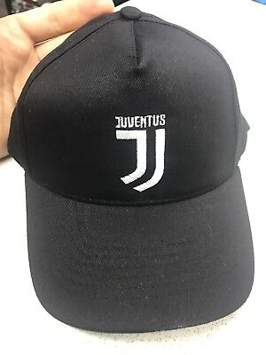 cc20159abd73a2 1 HAT JUVENTUS BLACK OFFICIAL CAP OFFICIAL LOGO NEW EMBROIDERY KIDS 4/10a