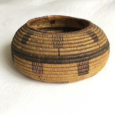 RARE Old Native American ANTIQUE APACHE MISSION Basket Stunning