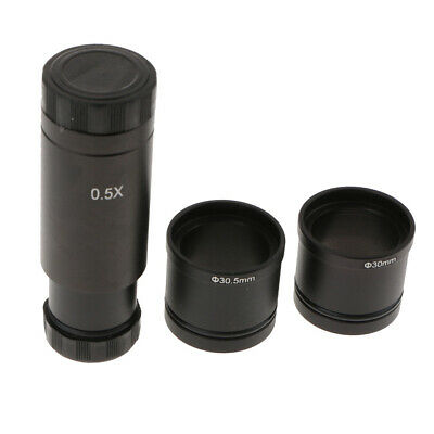Microscope Eyepiece 0.5X Reducing C Mount Lens with 30mm 30.5mm Adapter Ring