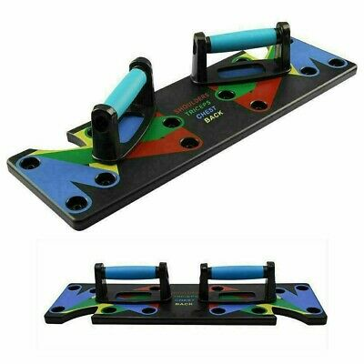 9 in 1 Push-Up Rack Board System Fitness Workout Train Gym Exercise Pushup Stand