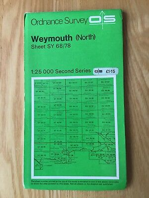 1969 Ordnance Survey 1:25,000 Second Series Map Sheet SY68/78 Weymouth (North)